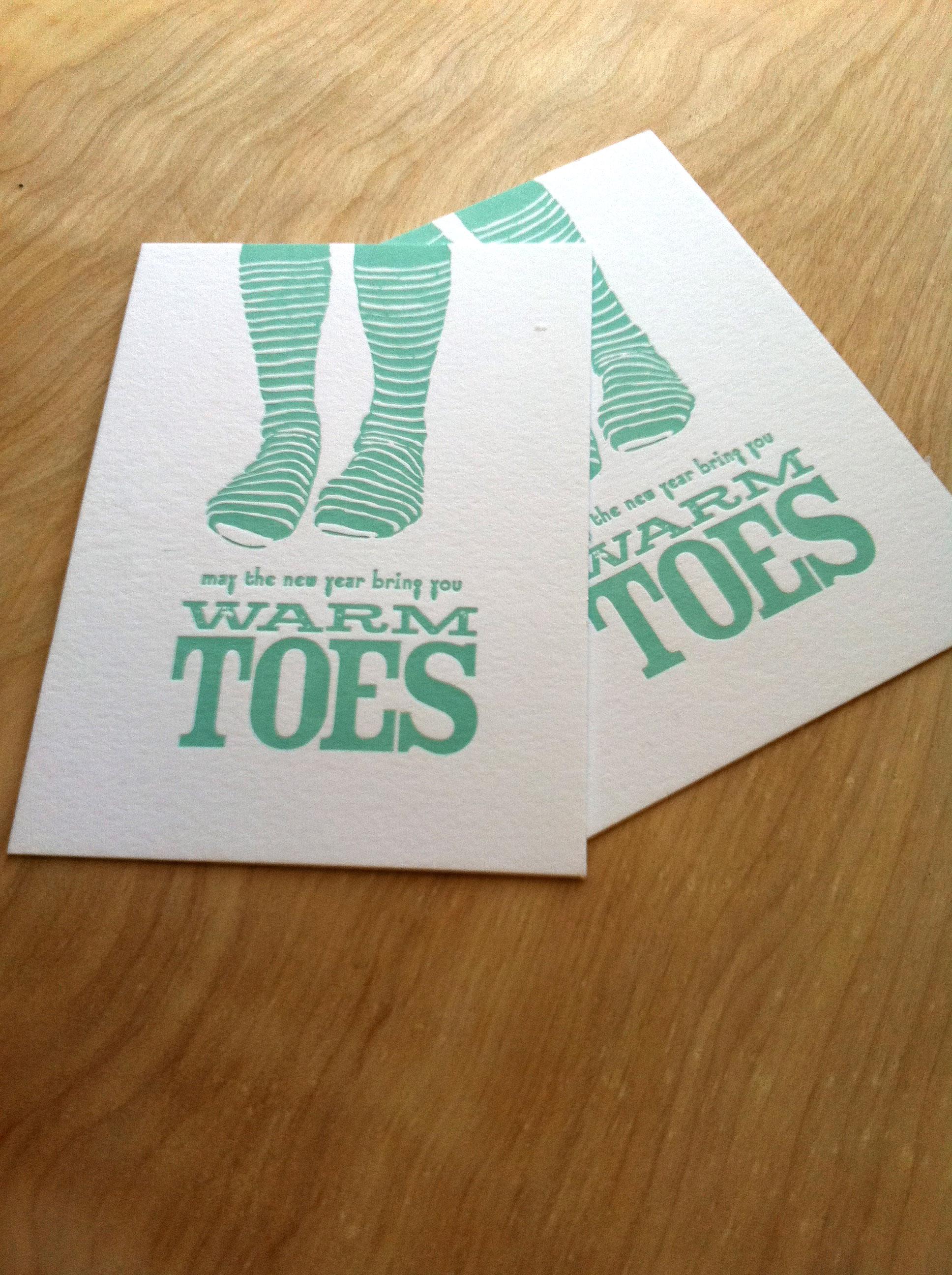 Warm Toes Postcard