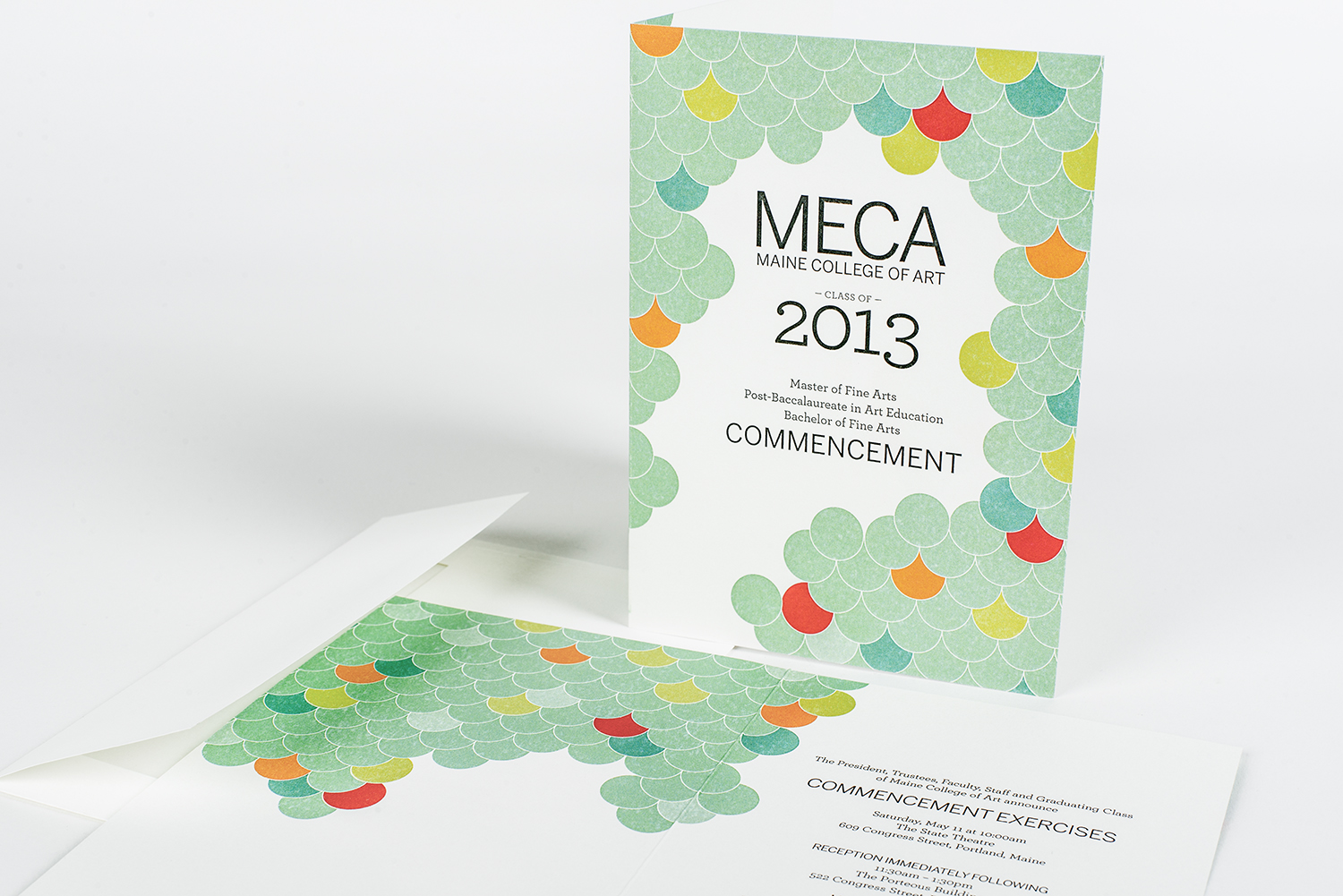 MECA's Commencement Invite + Program 2013