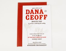 Dana + Geoff // Wedding Invitation