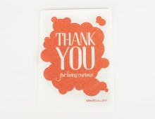 SPACE Thank You // Letterpress