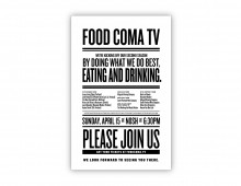 Food Coma TV // Poster